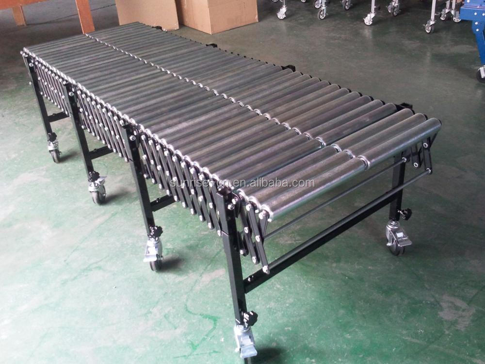 Stainless Steel Motorized Flexible Extendable Roller Conveyor for Industry