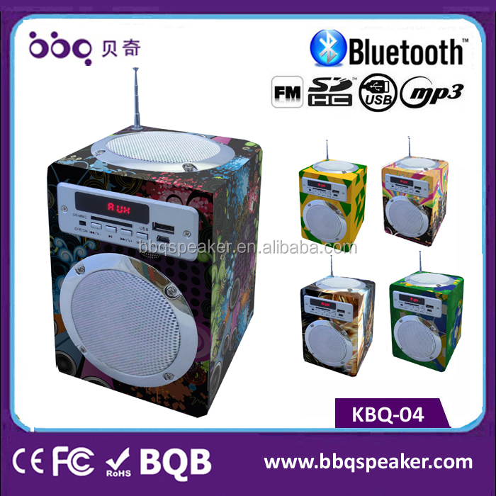China Original True Wood Aux In Rock Active Speaker 12v With Radio ...