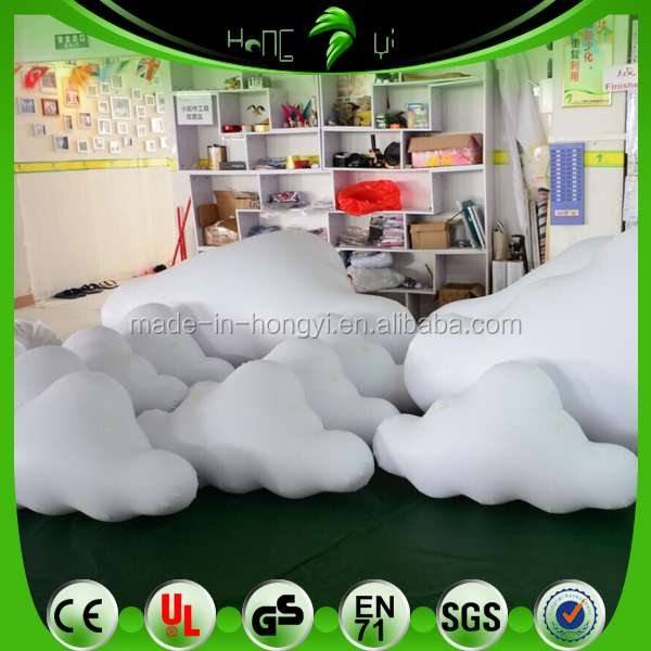 Inflatable Helium White Clouds/ PVC White Inflatable Floated Clouds/ Floating Advertising Customized Model