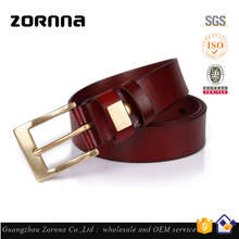 Online Shopping Guangzhou Hardware Men Fashion Thin Red PU Leather Belts