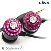 Promotional diamonds custom colorful earphone hot sale with wholesale prices