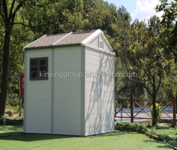 Kinying brand plastic garden container tiny mobile house easy assembled for storage