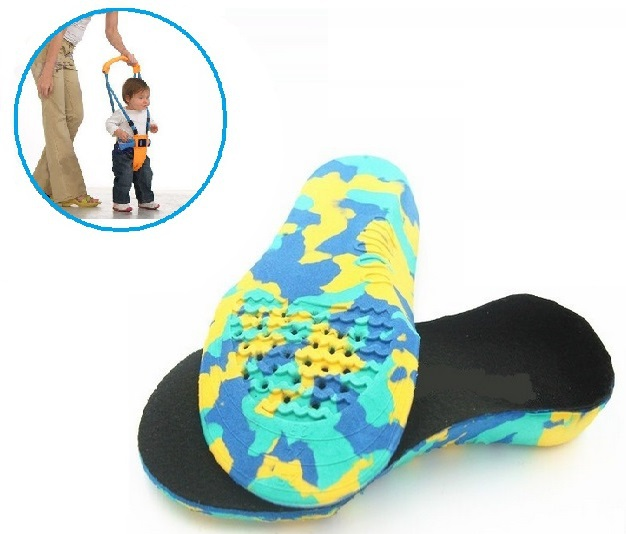 8011a7908c Get Quotations · 1 pair EVA Child Orthopedic Insoles Kids foot correct Flat  Feet Orthotics Arch Support for flat