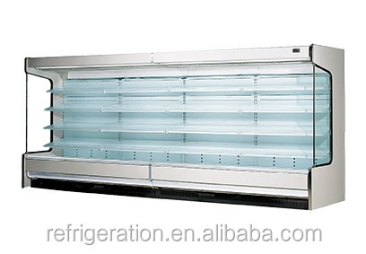 H19-06 Customized supermarket chiller, Open Face Refrigerated Display, remote compressor unit