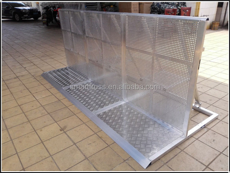 Low Price Temporary metal crowd control Aluminumbarrier for Trade Show Event Concert