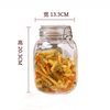 High quality clamp clip lid Sealed glass spice bottles Mini clip top lids glass jar