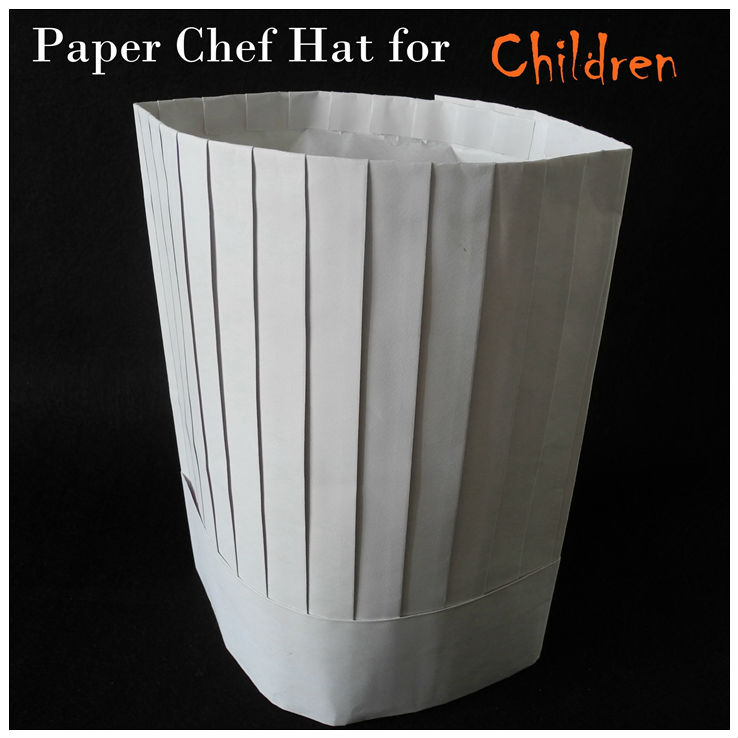 Kids Paper Chef Hat For Template