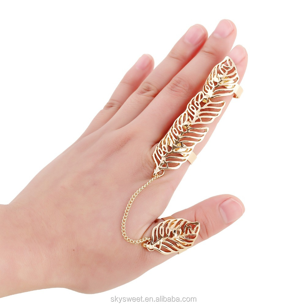 Sex Toy Finger Ring Gold Leaf Two Finger Ring(swtju1128) - Buy ...
