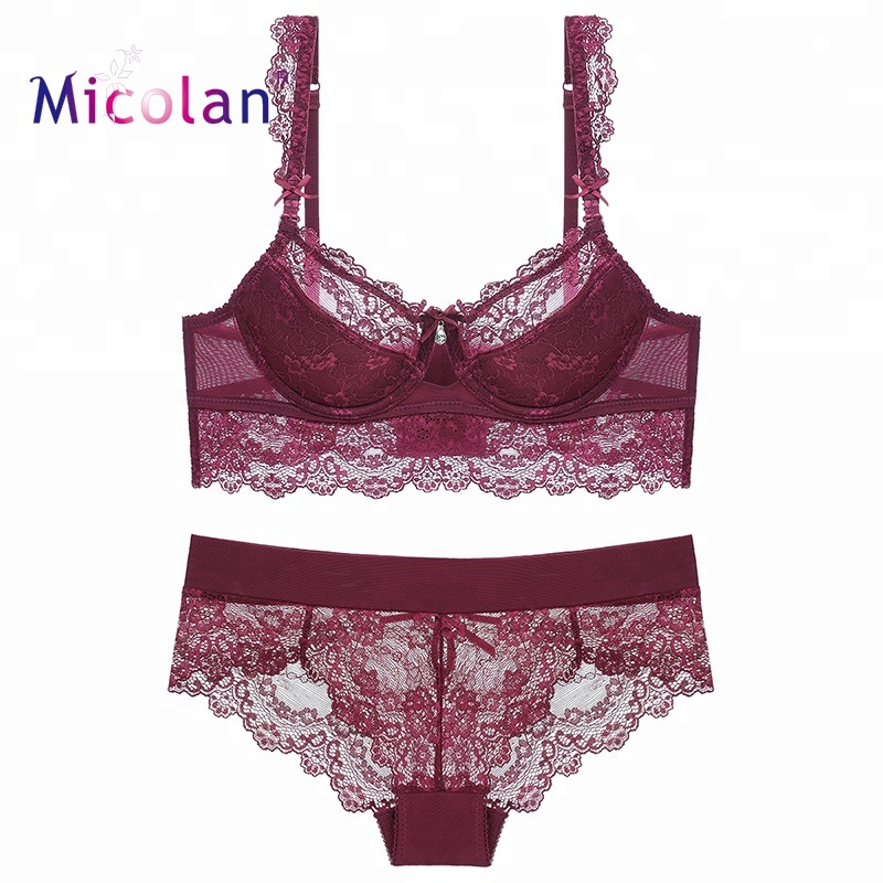 60f7613a3fab1 Hot Lace Sexy lady Underwear Sexy Fancy Bra Panty Set Indian Bra Panty