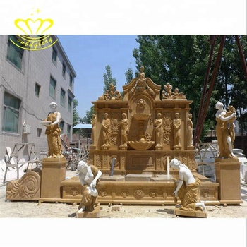 Outdoor garden Decor stone crafts New product Life size marble statue with Water fountain