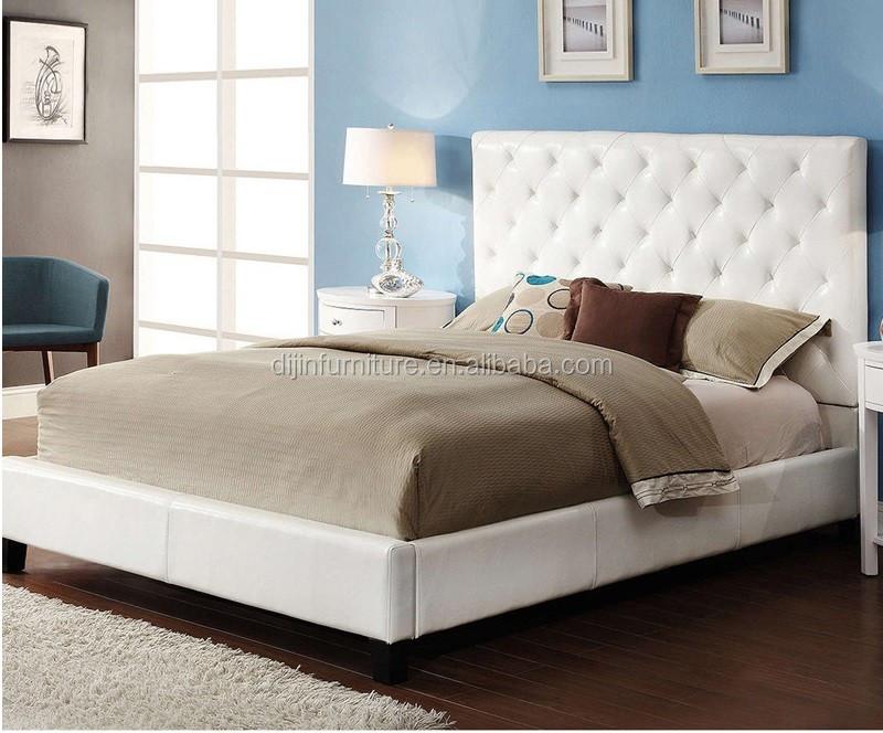 Nieuwe model moderne slaapkamer dubbele maat stof linnen bed