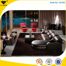 VV SOFA hot selling living room furniture collection, 100% top grain leather sofa set E3-651