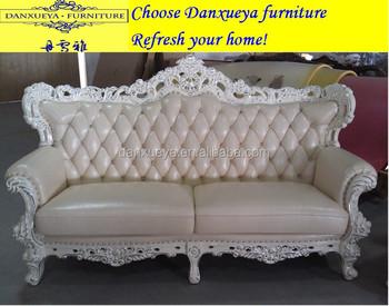 Hotel Home Used Wood Sofa Set Dubai Leather Furniture M02
