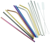 Custom cold drinking colored stainless steel straws with good price