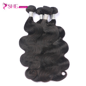 Ishe Qingdao hair factory 8-34 inches brazilian 8a weave human hair, machine double wefted 18 20 22 inch brazilian hair