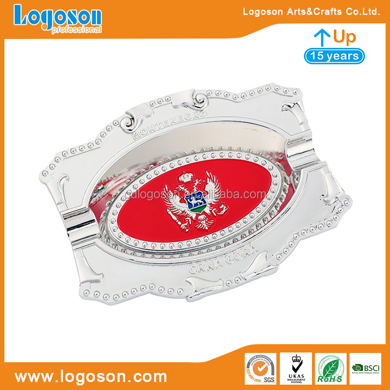 For Tourist Montenegro Souvenirs Foil Paper Country Flag Custom Ashtray Custom Made Ashtray