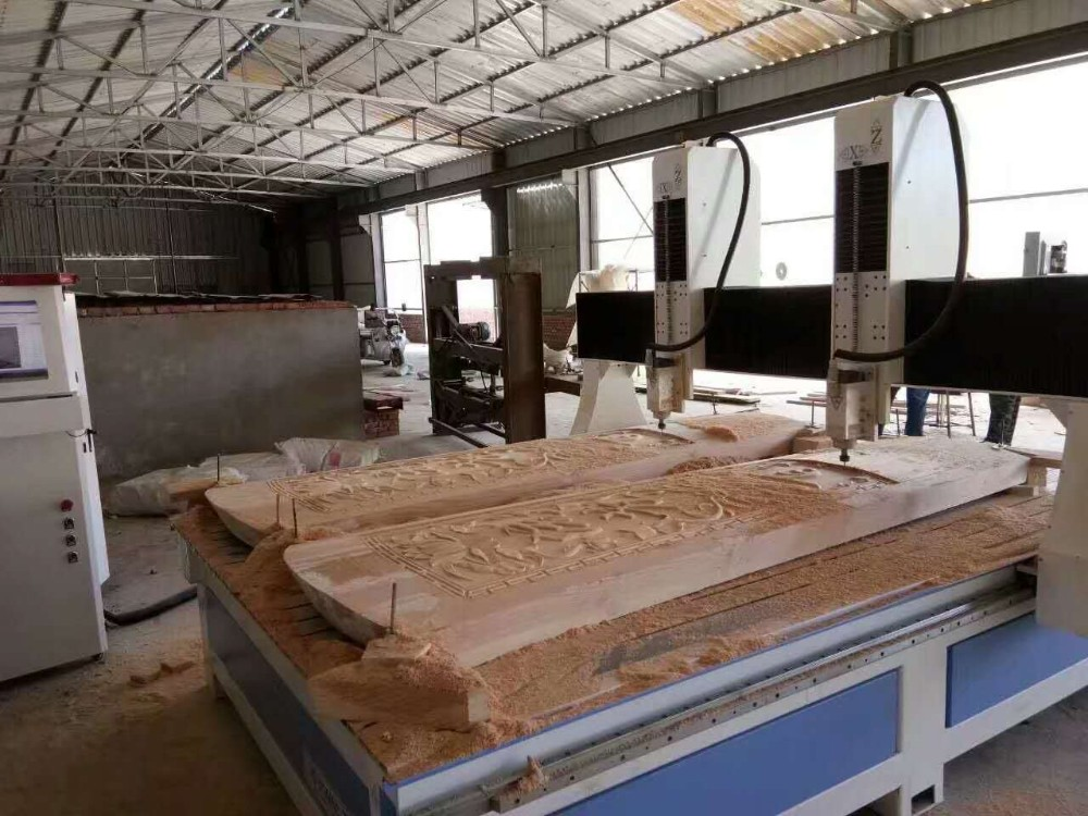 vacuum automatic cnc wood router coffin making machine