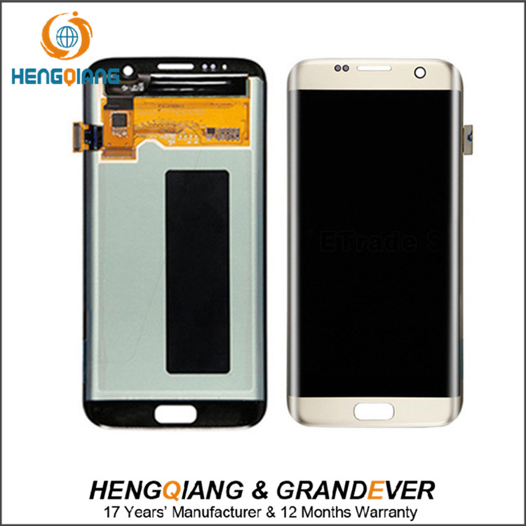 Hot Selling LCD Black White Gold for Samsung Galaxy S7 Edge G935F LCD Touch Screen Digitizer Assembly