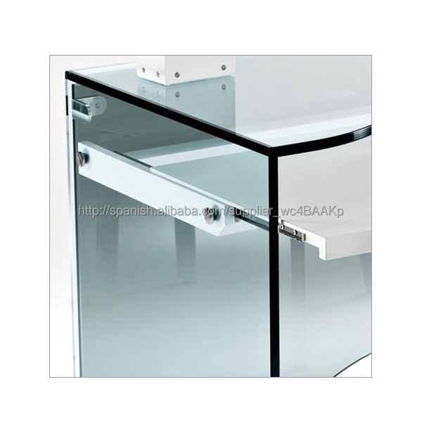 N679 escritorio de oficina moderna tabla cristal ordenador for Mesas escritorio modernas