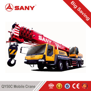 SANY QY50 50 Tons Used Truck Mounted Crane of 2011 Year Second Hand Mobile Crane with EURO III