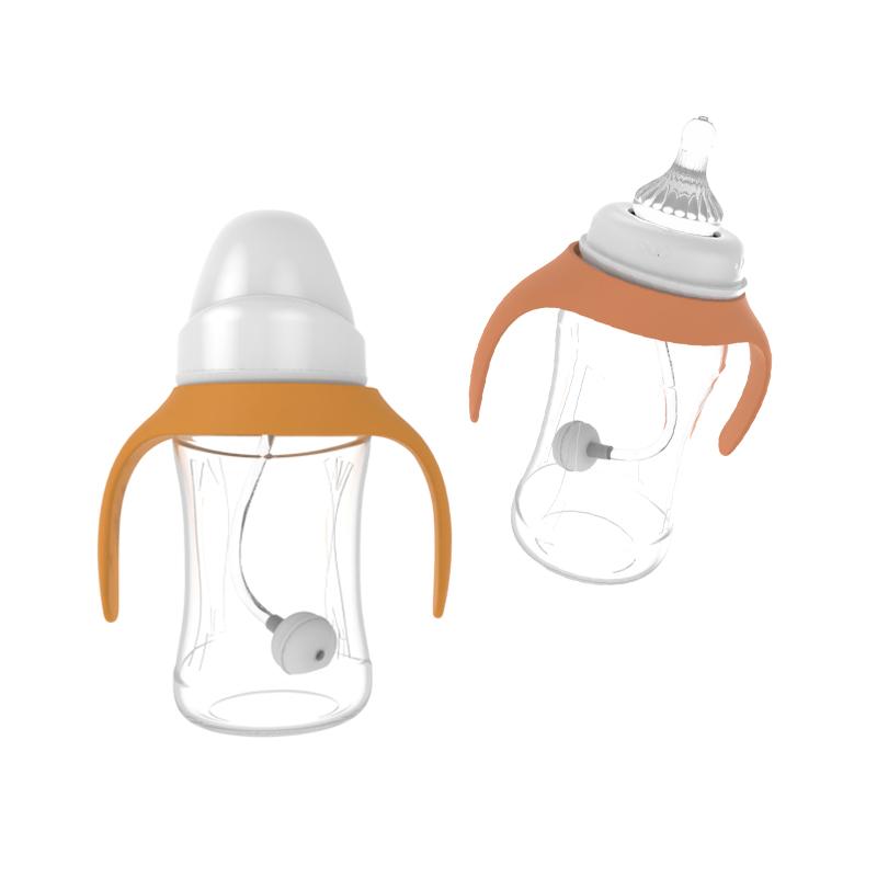 Alta calidad Eco amigable de plástico de calidad alimentaria bebé botella de alimentación