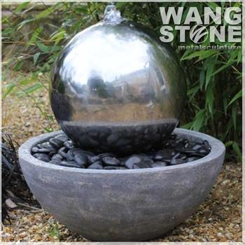 Außen Edelstahl Kugel Brunnen Garten Wasser Funktion