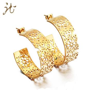 New 2018 Indian 22k Gold Hoop Earring Design For Women