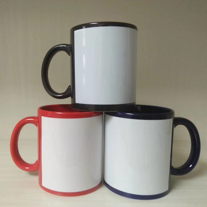 Custom 11 oz sublimation coffee cup with logo ceramic coffee mug