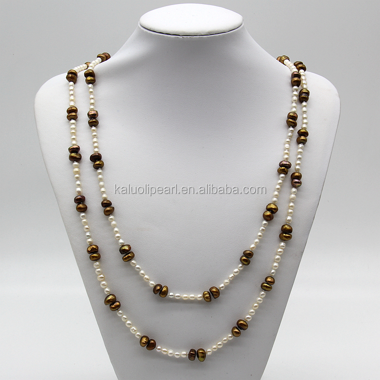 customized unique long modern pearl necklace designs buy