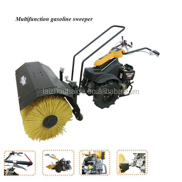 420 CC gasoline tractor sweeper/road cleaning machine