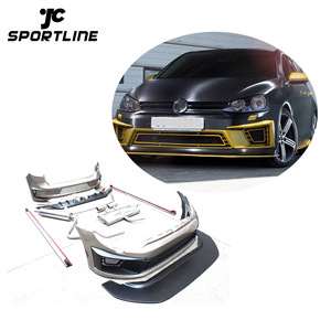 PU R400 Auto Car Bumper for VW Golf 7 VII MK7 include Front Bumper and Rear Bumper