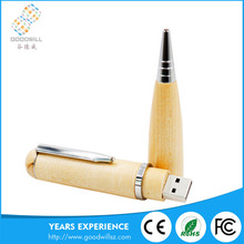 Christmas gift usb flash driver promotional wood usb pen driver