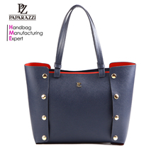 5884-2017 Hot sale branded woman tote bag good quality PU leather handbags