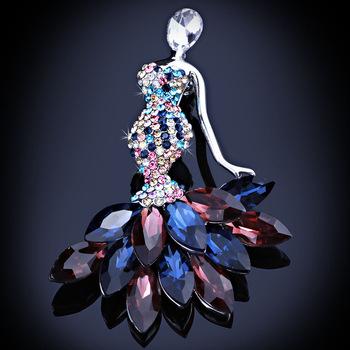 Pretty Crystal Fairy Brooches For Women Fashion Rhinestones Brooch Craft  Brooch Collar Clips