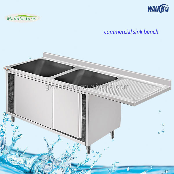 Commercial Kitchen Stainless Steel Sink With Cabinet/Metal ...
