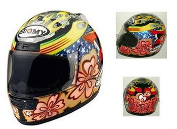 Le voilà enfin !!!! LE SUOMY SR-GP utilisé par Andrea Dovizioso bientôt disponible ! Suomy-Helmet-Explorer-Gold-HAWAIIAN-Flower.jpg_350x350