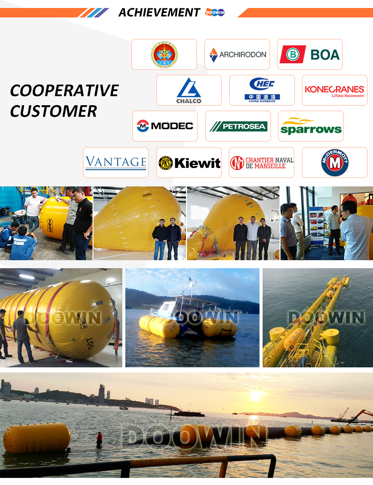 Totally Enclosed Inflatable Pipelaying Buoyancy Bag