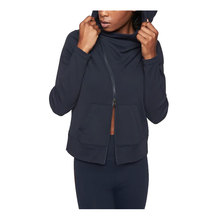Stylish casual zipper high quality ladies hooded sweatshirt