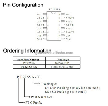 Electronic Volume Controller Ic Pt2255a-sn Pt2255a Sop16 - Buy  Pt2255a-sn,Cpu 5-bit,Controller Ic Product on Alibaba com