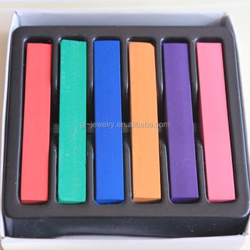 6 Pieces Colors Diy Box Temporary Color Hair Soft Pastels Chalk Colour Salon Buy Color Hair Chalk Soft Pastels Chalk Your Hair Product On
