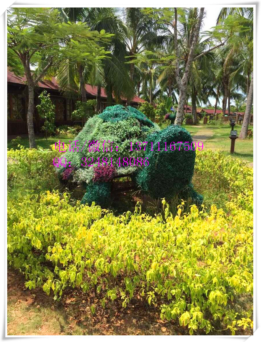 artificial green grass horse / fake elephant /cow / mickey&minne for ...