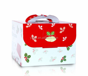 Free samples Folding Merry Christmas paper gift box for cake