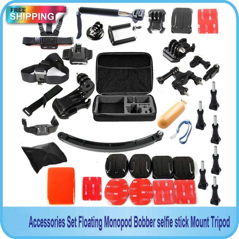 Free Shipping!!Gopro Accessories Set Floating Monopod Bobber selfie stick Hand Grip Mount Tripod  For Gopro SJ4000 Xiaomi Yi Cam