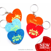 Promotional soft rubber laminated flat heart pvc pendant