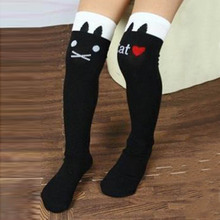 Fashion Hot Sales New Cotton Knee High Socks Children In tube Socks Striped knee girls Straight Colorful Socks