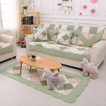 Anti Slip Cotton Prewashed Patchwork Sectional Sofa Cover Stretch Slipcover  - Buy Sofa Cover Stretch Slipcover,Sectional Sofa Cover,Patchwork Sofa ...
