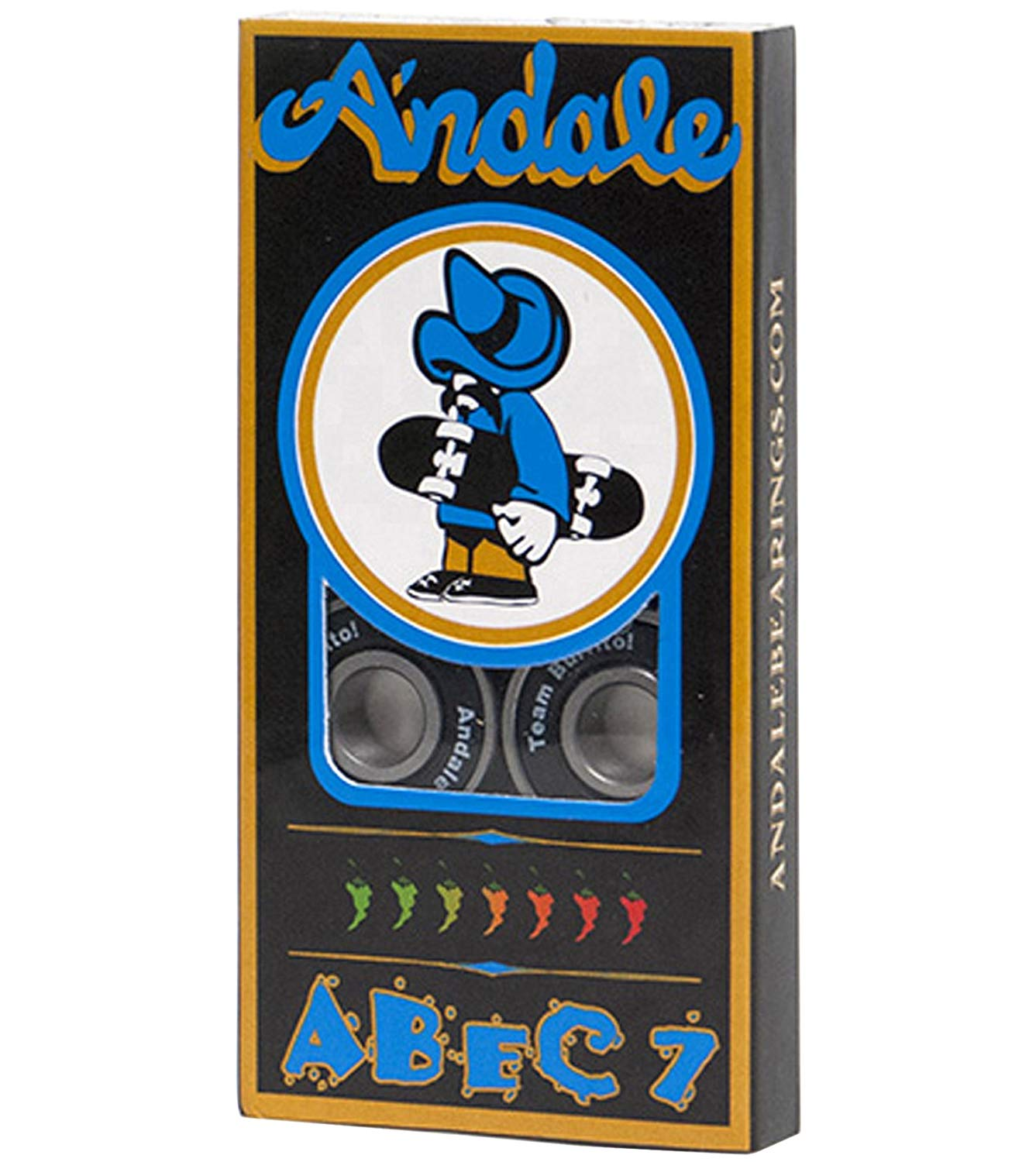 Andale Abec-7 Skateboard Bearings Black