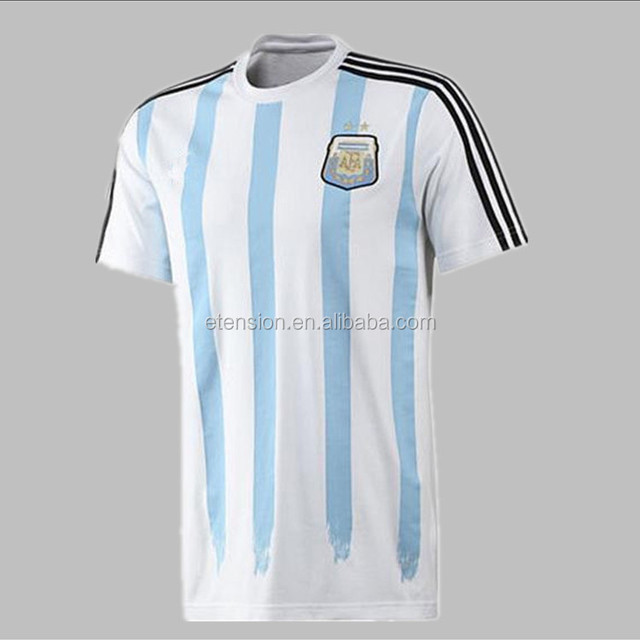 Messi Style Wholesale Argentina Football T Shirt For Men