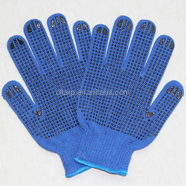 pvc dotted cotton Safety Gloves--labor protection Gloves