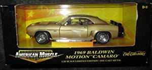 #32473 Ertl American Muscle 1969 Baldwin Motion Camaro,Gold 1/18 Scale Diecast